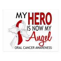 My Hero Is My Angel Oral Cancer Postcard