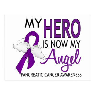 My Hero Is My Angel Pancreatic Cancer Postcard