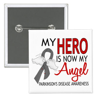My Hero Is My Angel Parkinson's Disease 2 Inch Square Button