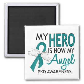 My Hero Is My Angel PKD Refrigerator Magnets
