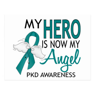 My Hero Is My Angel PKD Postcard