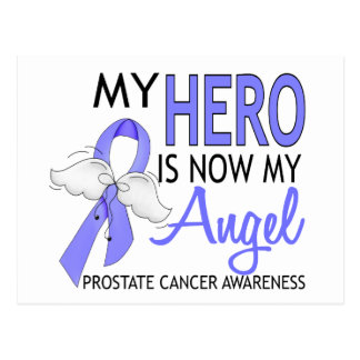 My Hero Is My Angel Prostate Cancer Postcard