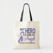 My Hero Is My Angel Prostate Cancer Tote Bag