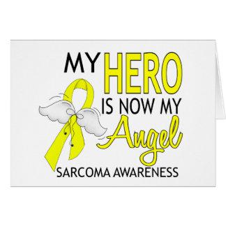 My Hero Is My Angel Sarcoma Card