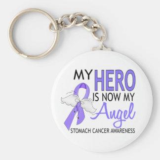 My Hero Is My Angel Stomach Cancer Basic Round Button Keychain