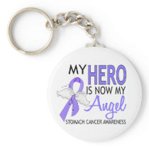 My Hero Is My Angel Stomach Cancer Keychain