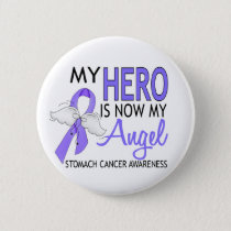 My Hero Is My Angel Stomach Cancer Pinback Button