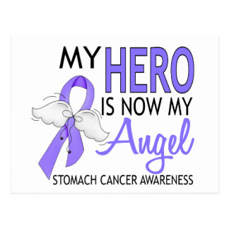My Hero Is My Angel Stomach Cancer Postcard