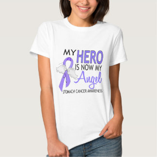 My Hero Is My Angel Stomach Cancer Tee Shirt