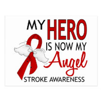 My Hero Is My Angel Stroke Postcard