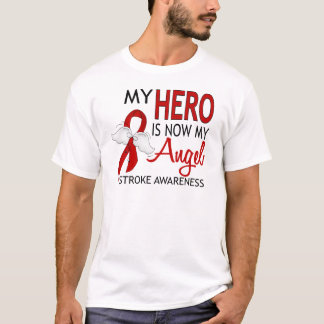My Hero Is My Angel Stroke T-Shirt