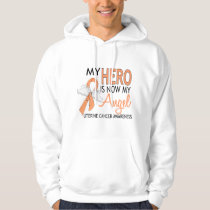 My Hero Is My Angel Uterine Cancer Hoodie