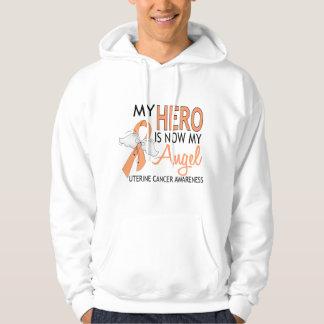 My Hero Is My Angel Uterine Cancer Hoodie