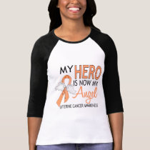 My Hero Is My Angel Uterine Cancer T-Shirt