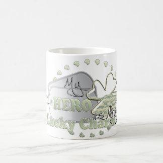 my hero is my lucky charm coffee mug