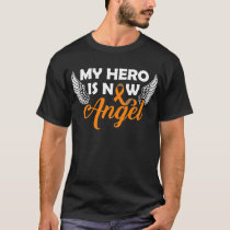 My Hero is now Angel Orange ribbon T-Shirt