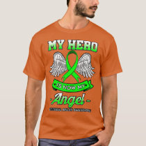 My Hero Is Now My Angel Cerebral Palsy Green T-Shirt