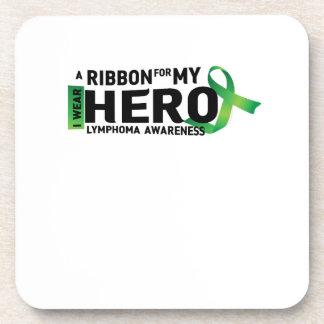My Hero Lymphoma Awareness Support Gifts Coaster