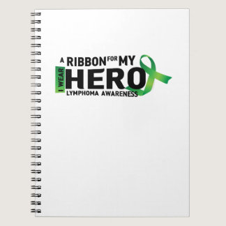 My Hero Lymphoma Awareness Support Gifts Notebook