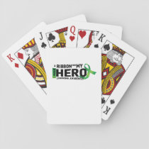 My Hero Lymphoma Awareness Support Gifts Playing Cards