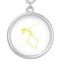 My Hero Lymphoma Awareness Support Gifts Silver Plated Necklace