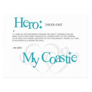 My Hero, My Coastie Postcard