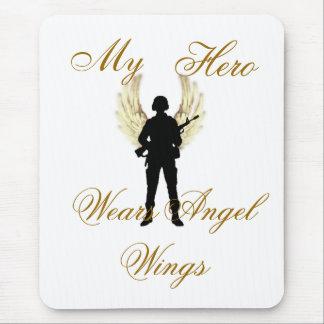 my hero, My, Hero, Wears Angel Wings Mouse Pad