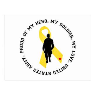 My Hero, My Soldier, My Love Postcard
