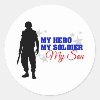 My Hero, My Soldier, My Son Classic Round Sticker