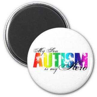 My Hero  My Son - Autism 2 Inch Round Magnet