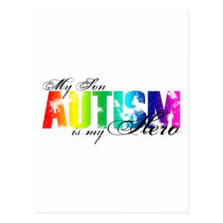 My Hero  My Son - Autism Postcard