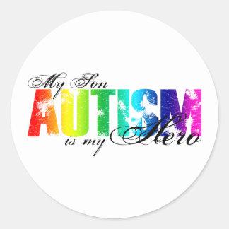 My Hero  My Son - Autism Classic Round Sticker