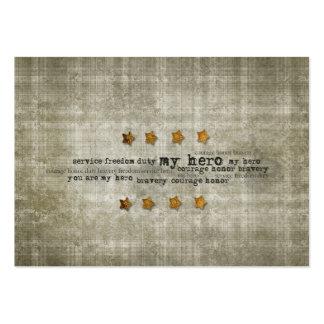 My Hero Service Freedom Gold Stars Wordart Business Card Template