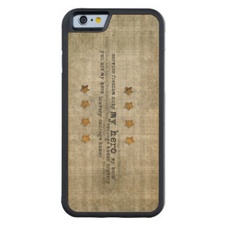 My Hero Service Freedom Gold Stars Wordart Carved® Maple iPhone 6 Bumper