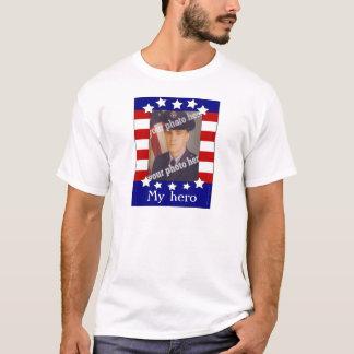 My Hero Stars and Stripes Custom Photo Patriotic T T-Shirt