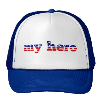 My Hero Stars and Stripes Patriotic Red White Blue Hats