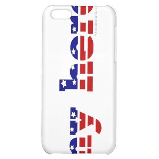 My Hero Stars and Stripes Patriotic Red White Blue iPhone 5C Cover