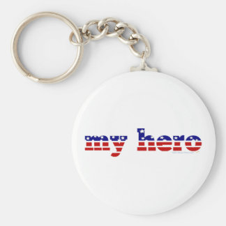 My Hero Stars and Stripes Patriotic Red White Blue Keychains