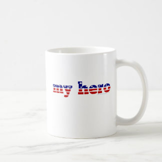 My Hero Stars and Stripes Patriotic Red White Blue Coffee Mugs