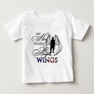 My Hero Wears Angel Wings Baby T-Shirt