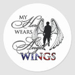 My Hero Wears Angel Wings Sticker