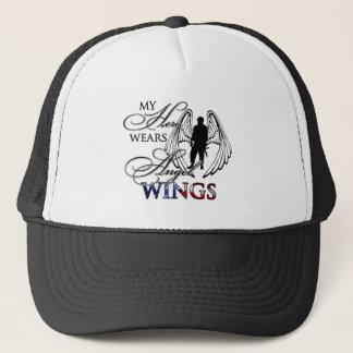 My Hero Wears Angel Wings Trucker Hat
