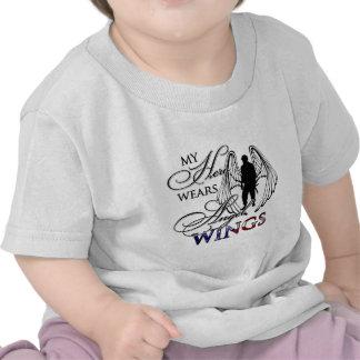 My Hero Wears Angel Wings Tshirt