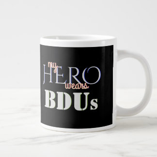 My Hero Wears Combat BDUs Large Coffee Mug
