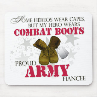 My Hero wears Combat Boots - Army Fiancee Mouse Pad