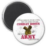 My Hero wears Combat Boots - Army Girlfriend Refrigerator Magnet