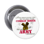 My Hero wears Combat Boots - Army Girlfriend Pin