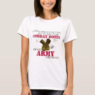 My Hero wears Combat Boots - Army Girlfriend T-Shirt
