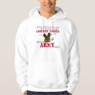 My Hero wears Combat Boots - Army Wife Hoodie