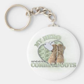 My Hero wears Combat Boots Basic Round Button Keychain